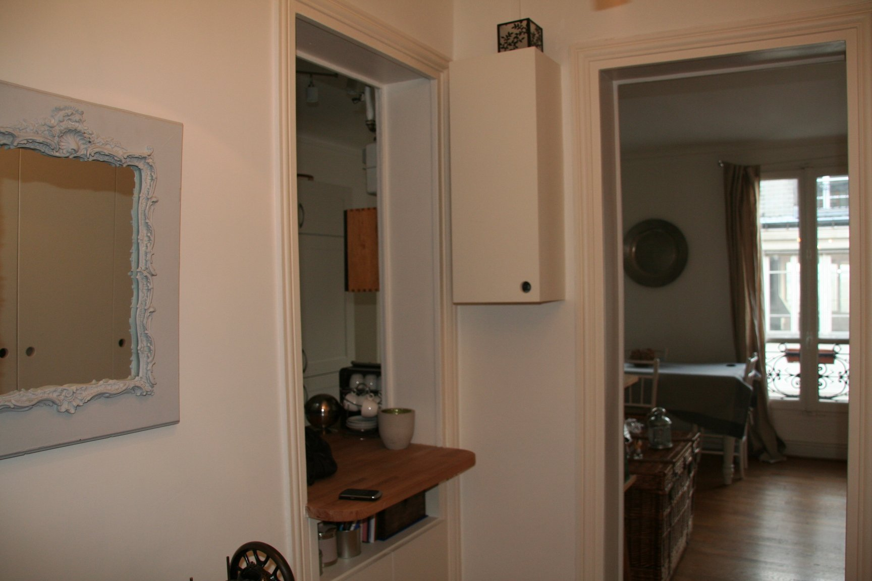 Non class photos appartement rue titon for Ouverture entre cuisine et salon